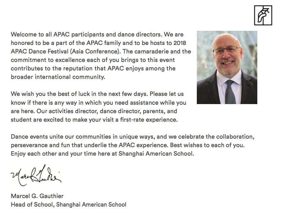 Welcome Message From Head of School